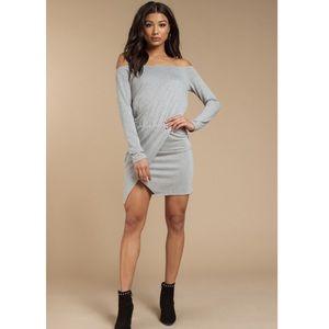 NWT Heather Grey Wrap Dress